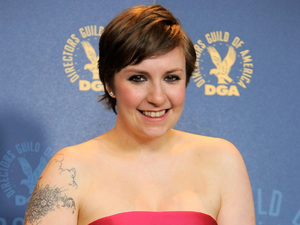"Lena Dunham with the comedy series award for ""Girls""' ""Pilot"" episode at the 65th Annual Directors Guild of America Awards."