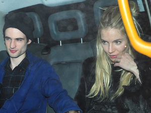 Sienna Miller and Tom Sturridge leaving Lulu Restaurant in Mayfair