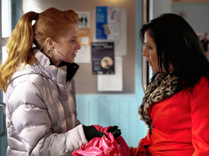 Bianca tells Kat that her friend has supplied them with stolen stock.