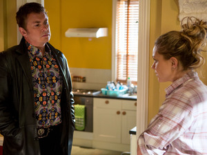 Alfie lies to Roxy about being with Kat.