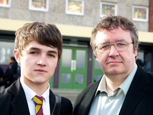 Tommy Lawrence Knight and Mark Benton in Waterloo Road