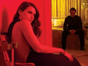 The Americans: Keri Russell as Elizabeth Jennings and Matthew Rhys as Philip Jennings