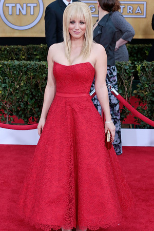 19th Annual Screen Actors Guild (SAG) Awards held at the Shrine Auditorium - Arrivals Featuring: Kaley Cuoco Where: Los Angeles, California, USA When: 27 Jan 2013 Credit: Brian To/WENN.com