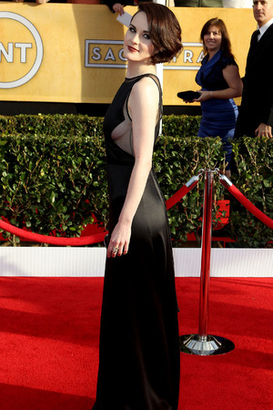 19th Annual Screen Actors Guild (SAG) Awards held at the Shrine Auditorium - Arrivals Featuring: Michelle Dockery Where: Los Angeles, California, United States When: 27 Jan 2013