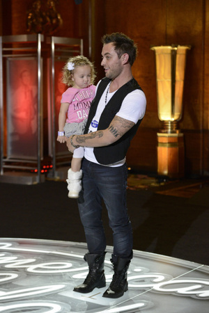 American Idol - Los Angeles auditions: Matt Farmer with his daughter Katie