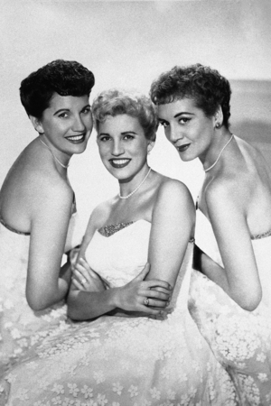 The Andrews Sisters (L-R: Maxene, Patty, LaVerne) photographed in 1952