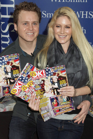 Heidi Montag and Spencer Pratt during a signing session of OK! Magazine in Brent Cross Shopping Centre.