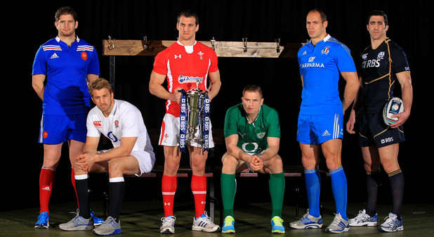 Six Nations: France's Pascal Pape, England's Chris Robshaw, Wales' Sam Warburton, Ireland's Jamie Heaslip, Italy's Sergio Parisse and Scotland's Kelly Brown.