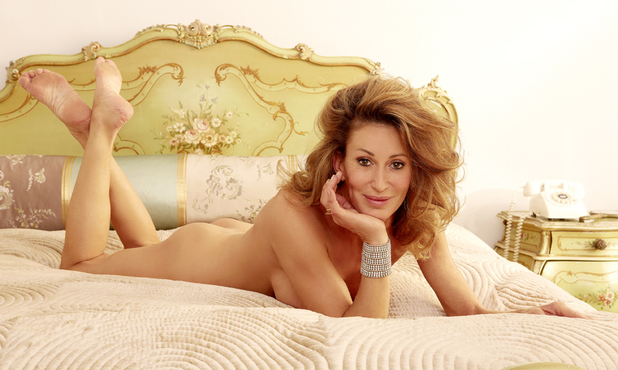 Paula Hamilton posing for Closer magazine