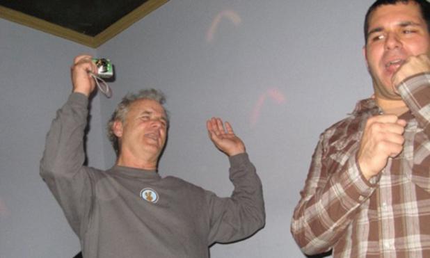Bill Murray gatecrashes a karaoke party