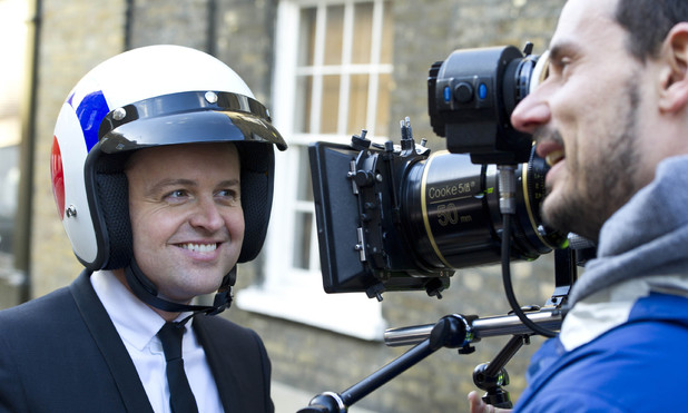 Filming on location in Waterloo for the new series of Ant & Dec's Saturday Night Takeaway