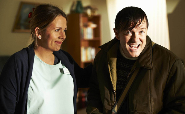 &#39;Derek&#39; S02E01: Kerry Godliman and Ricky Gervais