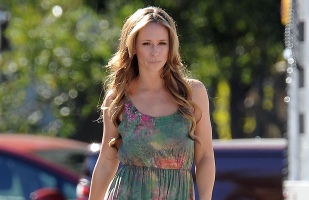 Jennifer Love Hewitt on the set of Lifetime Television's drama series 'The Client List'