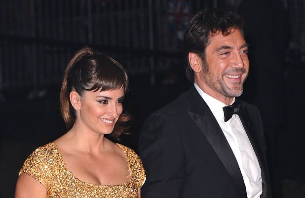Javier Bardem and wife Penelope Cruz at the 'Skyfall' Royal World Film Premiere After Party