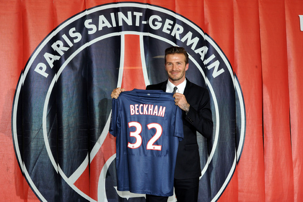 David Beckham, Parc des Princes, Paris, Paris St Germain
