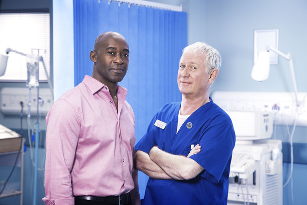 Patrick Robinson and Derek Martin in Casualty