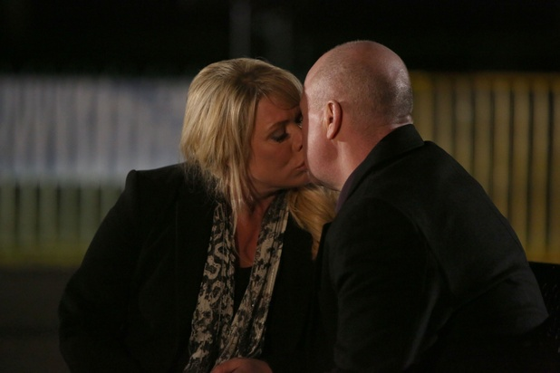 Sharon Rickman and Phil Mitchell in EastEnders
