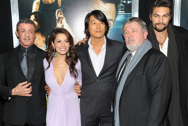 Sylvester Stallone, Sarah Shahi, Sung Kang, Walter Hill and Jason Momoa at the &#39;Bullet to the Head&#39; premiere - January 29, 2013