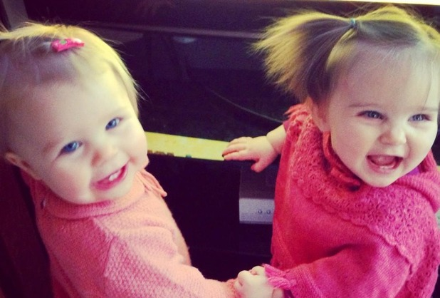 Michelle Heaton and Una Healy babies on a play date.