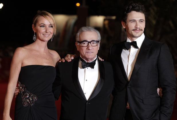 Gucci's Frida Giannini with Martin Scorsese and James Franco