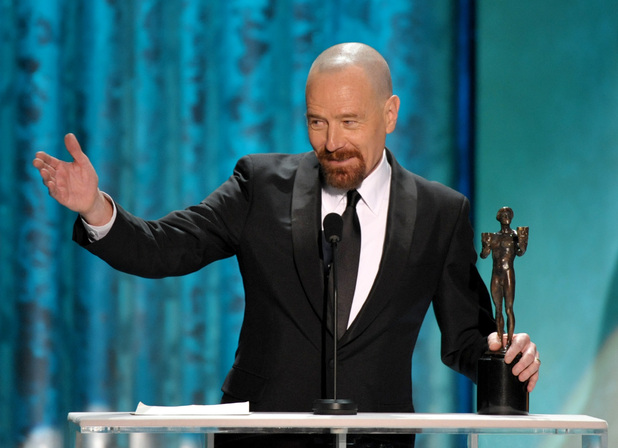 Bryan Cranston accepts the SAG Award for &#39;Breaking Bad&#39;