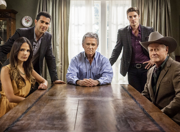 Dallas Season 2:  Larry Hagman, Patrick Duffy,  Josh Henderson, Jesse Metcalfe and Jordanna Brewster.