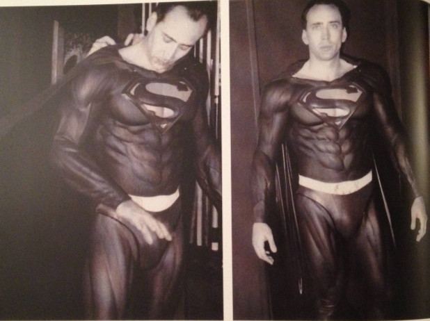 Nicolas Cage as Superman in Tim Burton's aborted 'Superman Lives' movie.