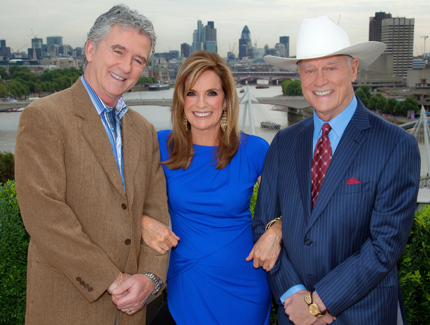 Dallas Season 2: Larry Hagman, Linda Gray and Patrick Duffy,