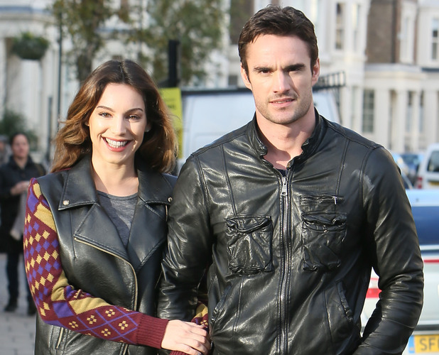 Kelly Brook out with boyfriend Thom Evans for her birthday lunch in London, England - 23.11.12Featuring: Kelly Brook,Thom Evans