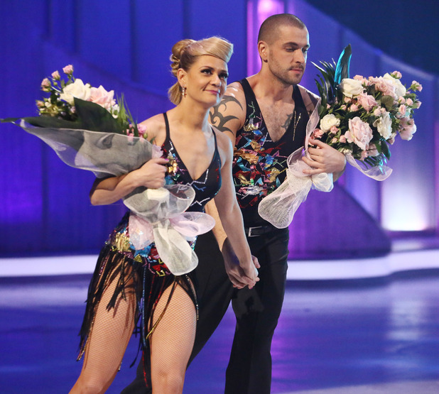 Dancing on Ice: Shayne Ward and Maria Filippov leave the competition.