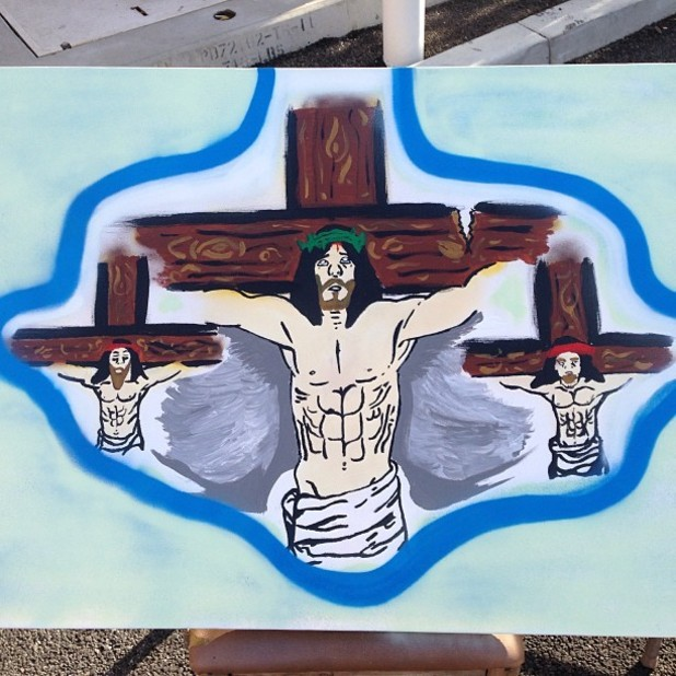 Chris Brown's Jesus painting