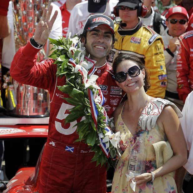 Ashley Judd and Dario Franchitti, celebrating his 2012 Indy 500 win