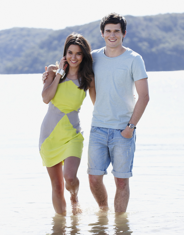Rhiannon Fish and Charles Cottier in Home and Away