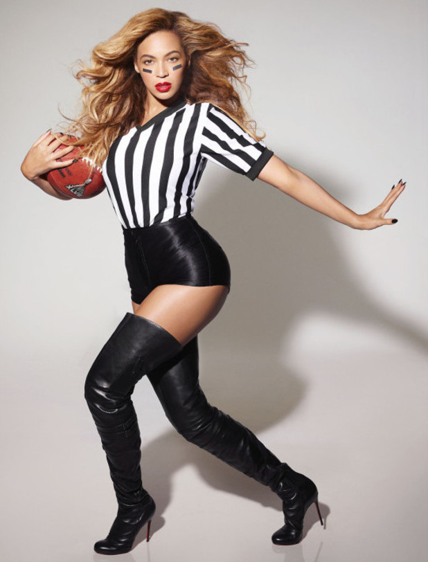 Beyonce in Superbowl promotional shoot