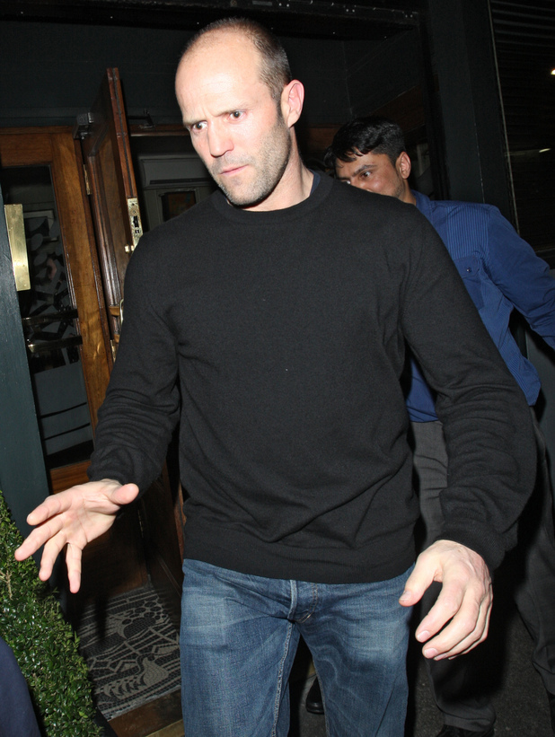 Celebrities leaving Groucho Club Featuring: Jason Statham Where: London, United Kingdom When: 01 Feb 2013