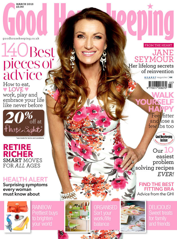 Jane Seymour poses for Good Housekeeping magazine