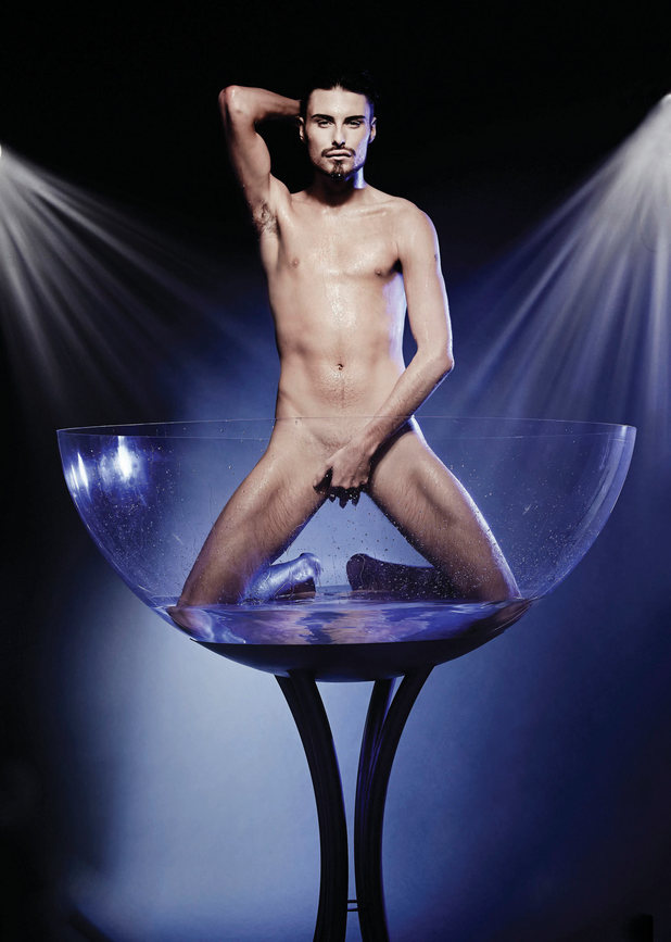 Rylan Clark poses naked for Cosmopolitan to raise awareness of male cancer