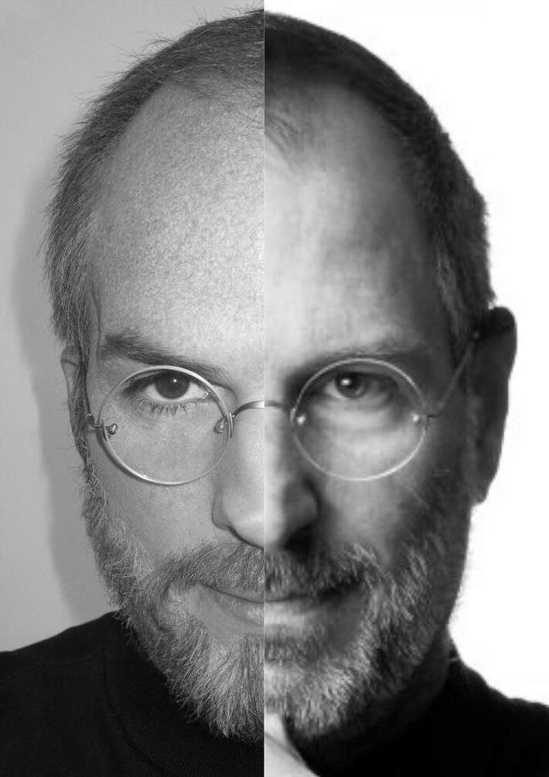 Ashton Kutcher and Steve Jobs comparison picture (posted by Ashton Kutcher on Twitter)