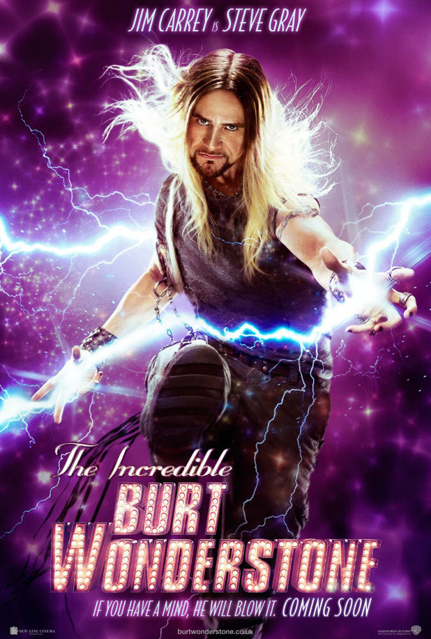 'The Incredible Burt Wonderstone' character posters; Jim Carrey as Steve Gray