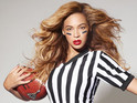 Destiny's Child star appears as NFL referee ahead of halftime show performance.