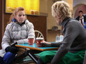 A concerned Bianca confides in Shirley on EastEnders tonight.