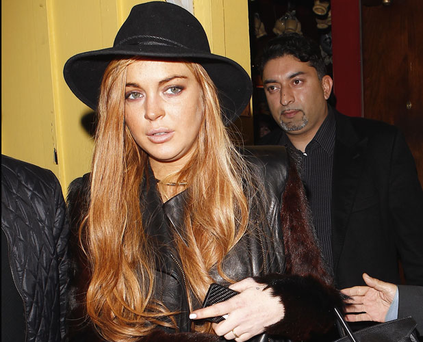 Lindsay Lohan meeting her lawyer Mark Heller