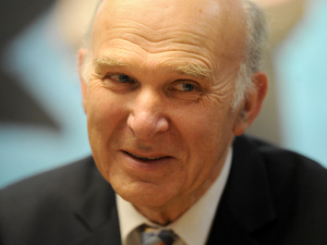 Vince Cable, Secretary of State for Business and Liberal Democrat MP for Twickenham - January 2013