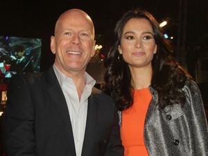 A Good Day To Die Hard UK premiere: Bruce Willis and his wife Emma Heming
