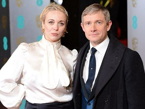 BAFTA 2013: Martin Freeman and Amanda Abbington