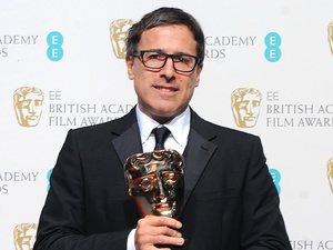 BAFTA 2013: David O Russell with the award for Best Adapted Screenplay for &#39;Silver Linings Playbook&#39;.