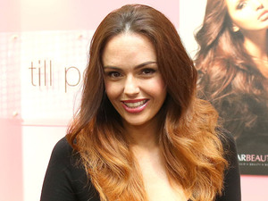 Jennifer Metcalfe attends the opening of her new beauty boutique 'Shearbeauty' in Hampshire.