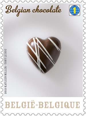 Belgian chocolate stamp