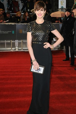 Anne Hathaway at the BAFTAs