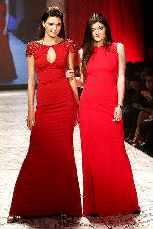 Kylie & Kendall Jenner, The Heart Truth Red Dress Collection 2013 Fashion Show, New York, America